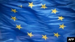 European flag. Oct. 2010 Unity Horizontal Flag Europe Blue Star Shape Wind European Union Flag Politics Color Image European Union Photography Government