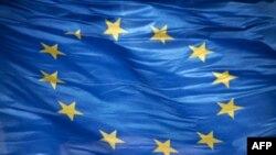 European flag. Oct. 2010 Unity Horizontal Flag Europe Blue Star Shape Wind European Union Flag Politics Color Image European Union Photography Government