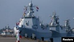 Cuộc tập trận Nga-Trung ở gần cảng Trạm Giang, ngoài khơi tỉnh Quảng Đông của Trung Quốc, sẽ kéo dài đến ngày 19/9.