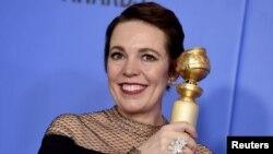 اداکارہ اولیویا کولمین نے فلم 'دی فیورٹ' میں گولڈن گلوب میں بہترین اداکارہ کا ایوارڈ حاصل کیا۔