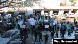 Müsavat Patiyasının qərargahı qarşısında aksiya