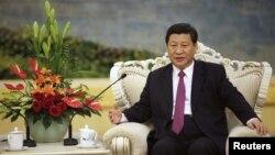 2012年8月29日在北京人民大會堂會見埃及總統時攝。