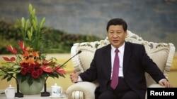 中國國家副主席習近平8月29日在人民大會堂會見埃及總理穆爾西。