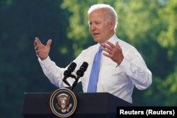 Joe Biden tokom konferencije za novinare nakon sastanka sa Putinom u Ženevi, 16. juni 2021.