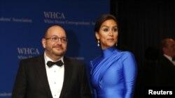 جیسون رضائیان و همسرش یگانه صالحی در ضیافت کانون روزنامه نگاران آمریکا در واشنگتن