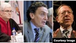 Expertos de la OEA que investigan si se han cometido crímenes de lesa humanidad en Venezuela (de izquierda a derecha): Manuel Ventura Robles de Costa Rica, Santiago Cantón de Argentina, y de la Comisión Interamericana de Derechos Humanos; y Profesor Irwin Cotler, de Canadá (Foto OEA)