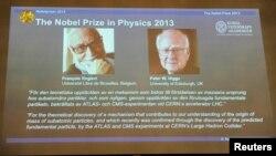 Komite Nobel mengumumkan nama pemenang Hadiah Nobel 2013 untuk bidang fisika, Francois Englert dari Belgia dan Peter Higgs dari Inggris, Selasa (8/10) di Stockholm.