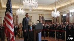 Tổng thống Obama đọc bài diễn văn về chính sách của Hoa Kỳ ở Trung Ðông và Bắc Phi tại Bộ Ngoại Giao trong thủ đô Washington