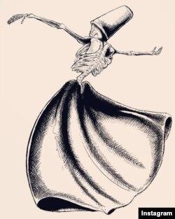 Rəhim Baqqal Əsgərinin çəkdiyi karikatura