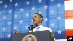 美国总统奥巴周五在肯塔基福特坎贝尔军事基地发表讲话