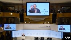 អគ្គលេខាធិការអង្គការសហប្រជាជាតិលោក António Guterres ថ្លែងសុន្ទរកថានៅក្នុងសន្និសីទសន្តិសុខ Munich លើកទី៥៤ កាលពិ ថ្ងៃទី១៦ ខែកុម្ភៈ ឆ្នាំ២០១៨ នៅក្នុងក្រុង Munich ប្រទេសអាល្លឺម៉ង់។