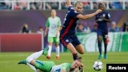 L' Olympique Lyonnais contre Wolfsburg dans la League des Champions femmes, Ukraine, 24 mai 2018.