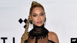 FILE - In this Oct. 15, 2016 file photo, singer Beyonce Knowles attends the Tidal X: 1015 benefit concert in New York.