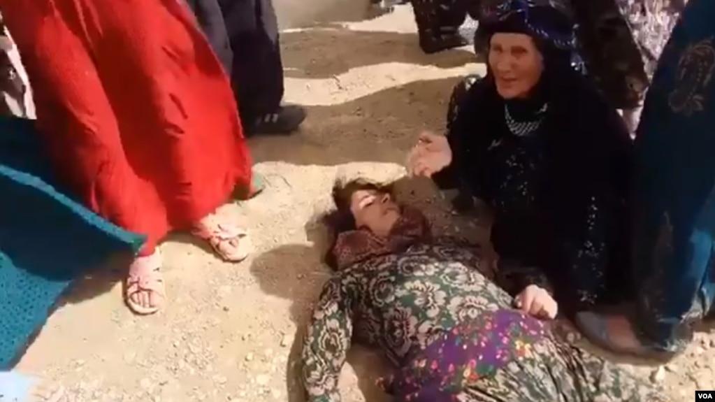 فیلم هایی از قربانیان حمله به معترضان در فضای مجازی منتشر شده است.