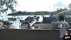 Sóng thần ập vào đảo Solomon sau trận động đất mạnh