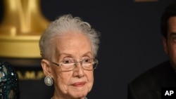 Former NASA mathematician Katherine Johnson