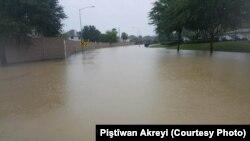 Cho đến ngày 31/8, mực nước tại thành phố Houston vẫn còn cao.