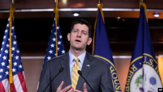 El presidente de la Cámara de Representantes de EE.UU., Paul Ryan, dice que los demócratas no tendrán apoyo para su propuesta de eliminar ICE.