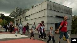 9월 20일 오스트리아에 진입하는 난민들