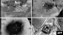 Photos aériennes fournies par l'armée israélienne du bombardement de 2007 en Syrie