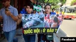 Cuộc tuần hành ở Hà Nội ngày 5/6/2016 chỉ diễn ra một thời gian ngắn đã bị giải tán.