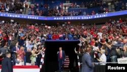 Donald Tramp na mitingu (Foto: Reuters/Leah Millis)