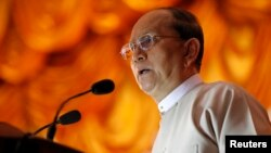 FILE - Burma's President Thein Sein in Rangoon, Nov. 30, 2013.