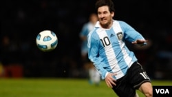 Lionel Messi fue el capitán de Argentina bajo la dirección ahora del entrenador Alejandro Sabella.