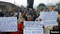 Protestos contra o terceiro mandato de Pierre Nkurunziza