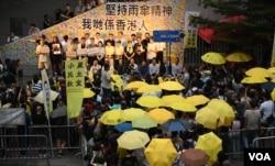 Thousands Hongkongers Join Umbrella Movement 4th Anniversary Rally