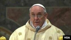 新教宗方濟3月14日與選舉他的書記主教舉行慶祝彌撒