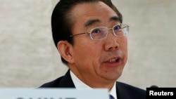 中国外交部特使吴海龙10月22日在联合国会议上发言
