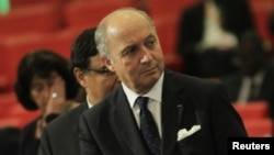 France's Foreign Minister Laurent Fabius is seen before an extraordinary summit of West African regional bloc ECOWAS on the crisis in Mali and Guinea Bissau, at a hotel in Abidjan January 19, 2013.