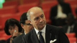 French Foreign Minister Laurent Fabius attends crisis talks on Mali in Ivory Coast, Jan. 19, 2013.