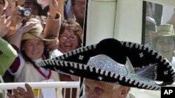 Papa Bento XVI em digressão pela América Latina (Foto de visita ao México)