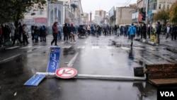 تصاویر مربوط به اعتراضات به گرانی بنزین در شهرهای مختلف ایران - تهران