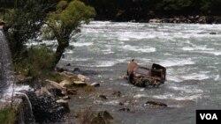 سیلاب ناشی از لغزش بند طبیعی در پنجشیر ده کشته برجا گذاشت