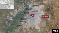 Bản đồ Cổ thành Homs.