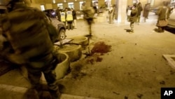 Scene of an attack outside the Serena Hotel in Kabul, for which the Haqqani Network was implicated. (file photo)