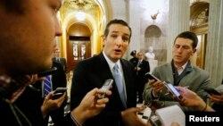 Сенатор Тед Круз после принятия Конгрессом плана государственных расходов на 2015 год