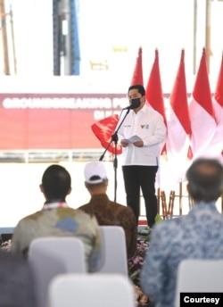 Menteri BUMN Erick Thohir mengatakan pendapatan PT Freeport Indonesia naik 100 persen dari tahun lalu. (Biro Setpres)