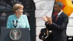 Ангела Меркель и Барак Обама. Белый дом. Вашингтон, США. 7 июня 2011 г.