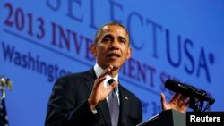 奧巴馬總統2013年10月發表演講說要美國要大力吸引投資者。