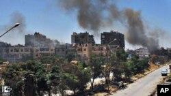 Sedikitnya 200 warga sipil dikhawatirkan terjebak dalam pertempuran antara pasukan Suriah dan tentara pemberontak (foto: dok).