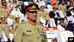 "Pakistani Army Chief Gen. Qamar Javed Bajwa, seen in this Nov. 2016 file photo, told Afghan President Ashraf Ghani on Sunday that his troops have eliminated ""all safe havens"" of terrorists on Pakistani soil."
