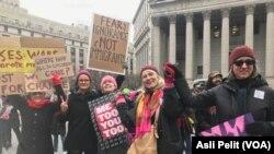 New York'ta Kadın Yürüyüşüne Katılım da Beklentilerin Altındaydı