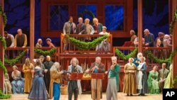 Characters in period costume lead the audience through traditional Christmas carols, poems and ancient dances.