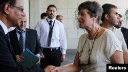 Šef kancelarije UN-a za pitanja razoružanja, Andjela Kejn pri dolasku u Damask, 24. jul 2013.