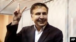 被逮捕的烏克蘭反對黨領導人薩卡什維利。