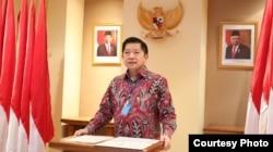 Menteri PPN/Kepala Bappenas Suharso Monoarfa saat membuka Rakorbangpus 2020 secara online, Selasa, 12 Mei 2020. (Foto: Bappenas)
